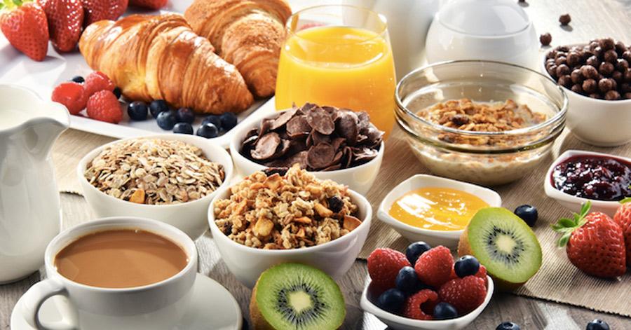 ristorante San Rocco prepara delle ricche colazioni a buffet